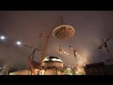 Уникальное видео установки на штатное место купола второго энергоблока Белорусской АЭС