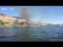 Канадец тушил пожар катером