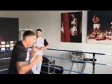 Открытая тренировка Александра Усика перед боем с Марко Хуком