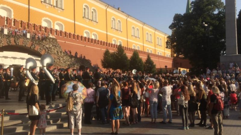 Военный оркестр в Александровском саду – 3