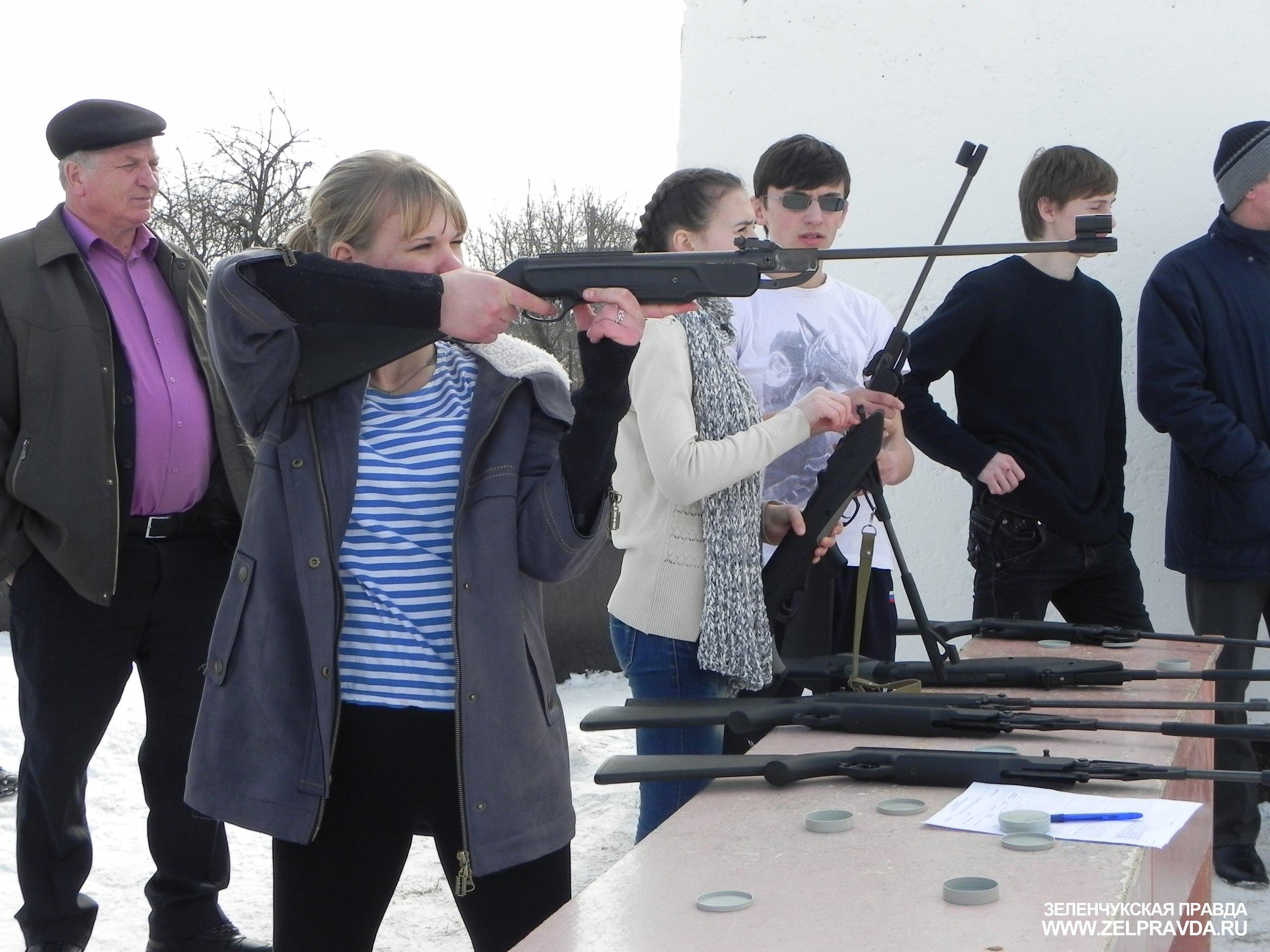 В Зеленчукской прошли районные соревнования по стрельбе из пневматического оружия