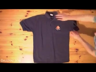 Как быстро сложить футболку(How to quickly add t-shirt)