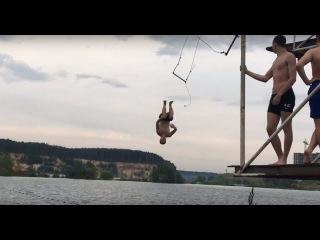 Тарзанка в Дзерже. Прыжки в воду