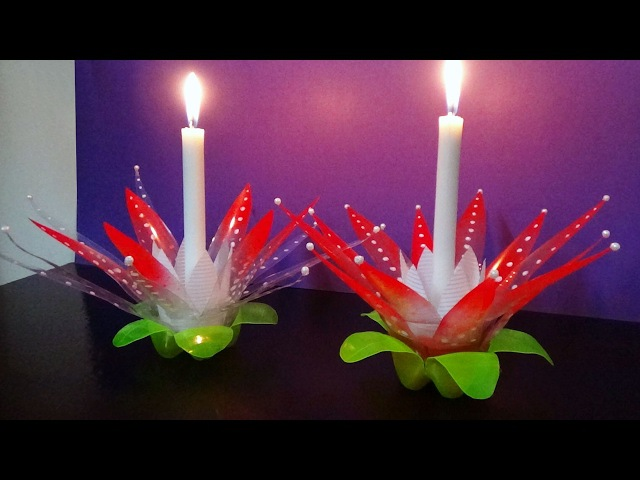 DIY How To Make A Candle Light Stand With Waste Plastic Bottles Best Use Of Waste