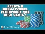 Покер обучение   Работа в мини-группах. Тренировка для nl50. Часть 1
