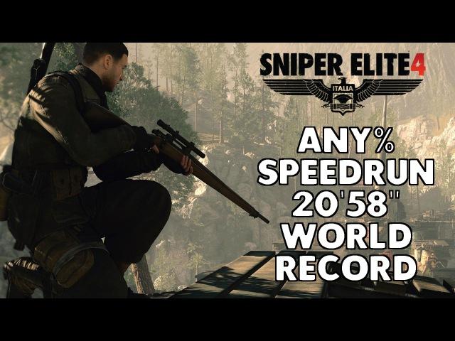 Sniper Elite 4 Speedrun - 20'58 [World Record]