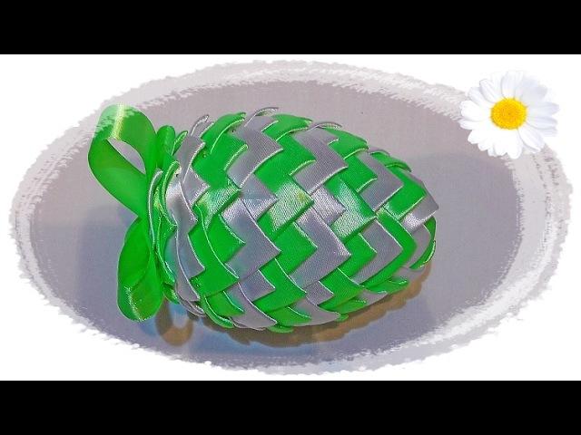Jajko wielkanocne ze wstążki 🐣 jak wykonać 🐣 krok po kroku 🐣
