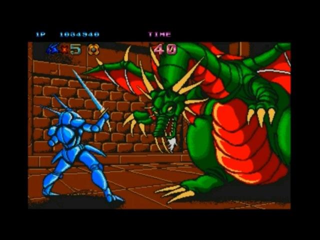 Castle of Dragon / Dragon Unit. Arcade. Walkthrough (No Death)
