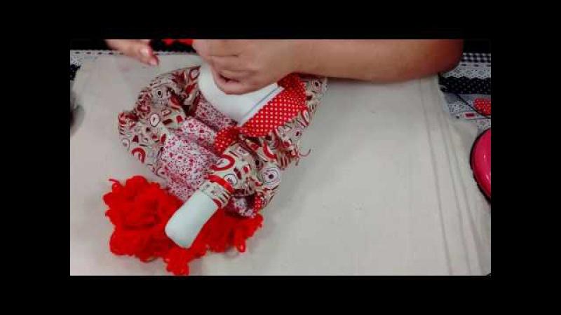 Faça uma linda boneca de pano puxa saco Filó parte 1
