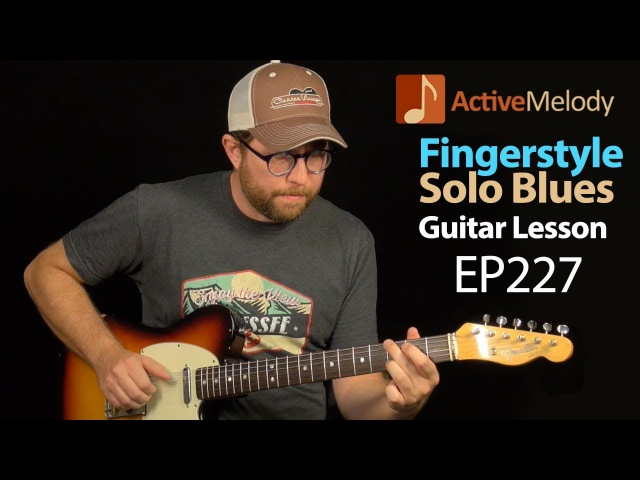 Slow and Dark Blues Guitar Lesson Played Fingerstyle - Blues Guitar Lesson - EP227