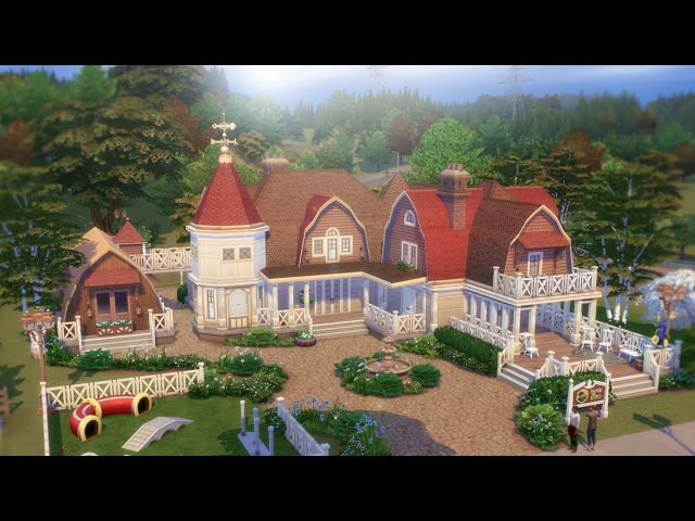 The Sims 4 CATS AND DOGS HOUSE BUILD Collab W.Steph0Sims