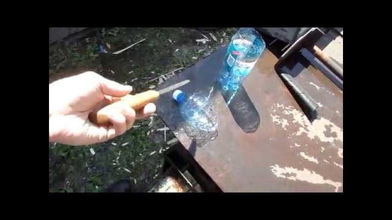 Разрубаем бутылку, нож - Ворон.