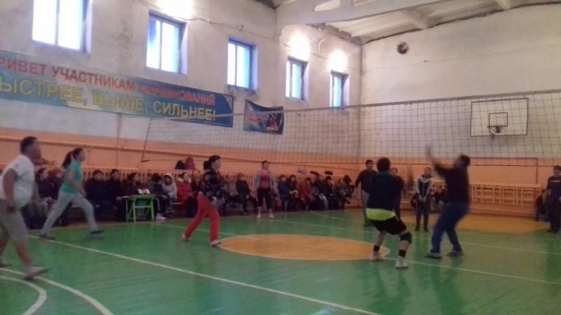 28 февраля прошло соревнование по  волейболу среди смешанных команд организаций и учреждений Бай-Тайгинского кожууна. Приняли уч