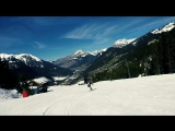 Sunny days of snowboarding in Chatel