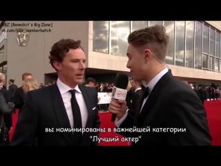 Benedict Cumberbatch Interview at TV BAFTA 2017 [rus sub]