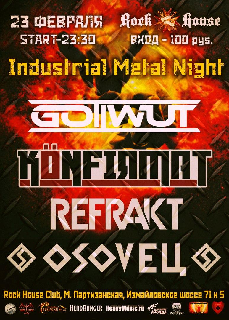 анонс концерта Industrial Metal Night
