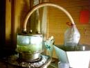 Растворение поваренной соли, концентрированной серной кислотой в медной ёмкости.Для получения хлороводорода и соляной кислоты.