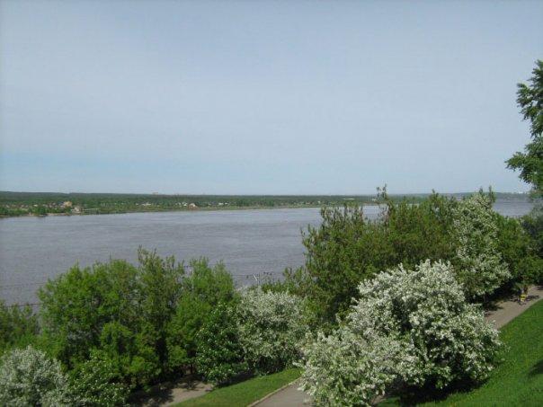 Река Кама в Перми