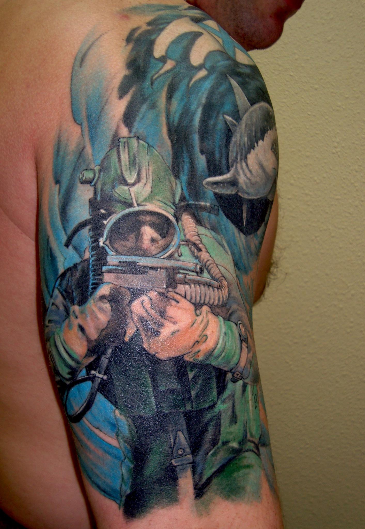 Тату подводных охотников фото