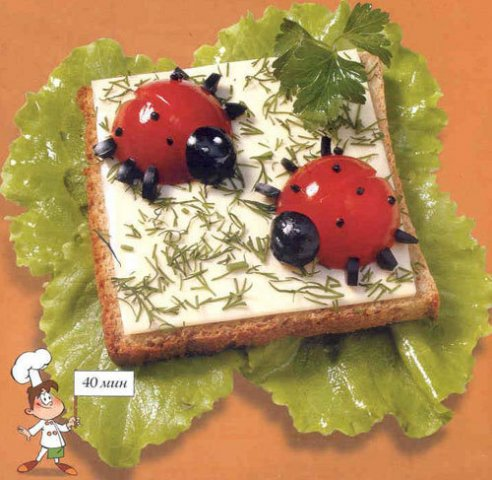 Красиво оформленный рецепт для детей с фото