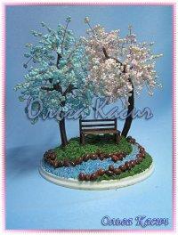 деревья из бисера, возможно повторение работы, так же возможно выполнение любого дерева по вашему...