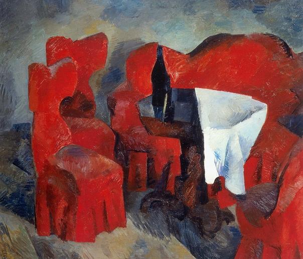 Р.Р. Фальк. Красная мебель. 1920. Холст, масло.