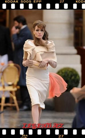 """Angelina Jolie """"Turist"""" filminin çəkilişində"""