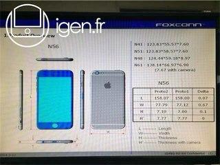 Подробности об iPhone 6: модели, памяти, дисплей