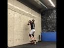 Ruslan_jaguar Броски слэмбола 15 кг в стену на балансборд
