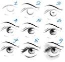Как нарисовать глаза: схема 7.