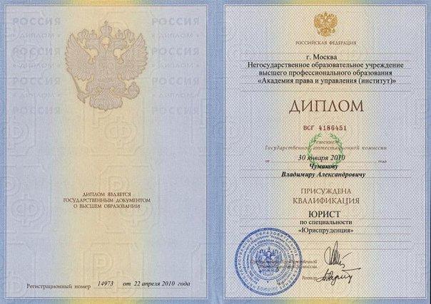 Челябинский Филиал Академии права и управления ВКонтакте Диплом