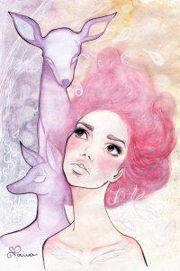 Оригинальные рисунки девушки