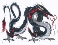 """Оригинал - Схема вышивки  """"Дракон черный """" - Схемы автора  """"tigr2895 """" - Вышивка крестом."""