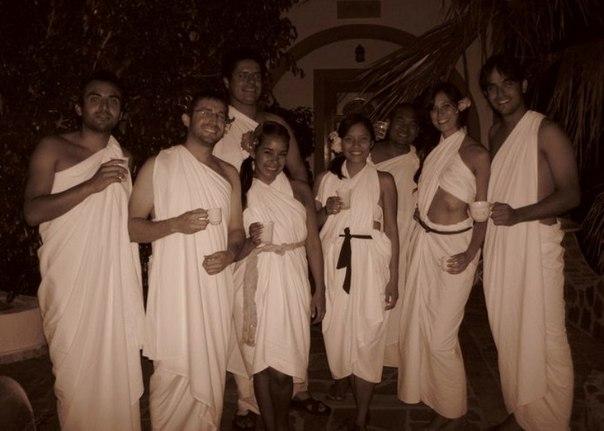 Греческий костюм своими руками из простыни 8