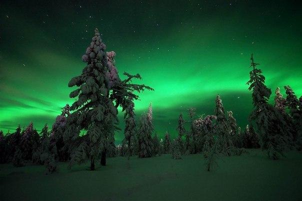 Немного северного сияния на ночь