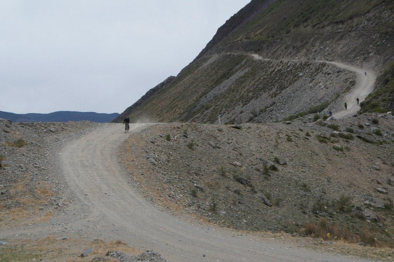 Спуск с Кату-ярык на велосипеде