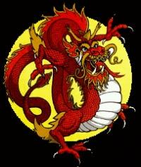 """Схема вышивки  """"Китайский Дракон """" ."""