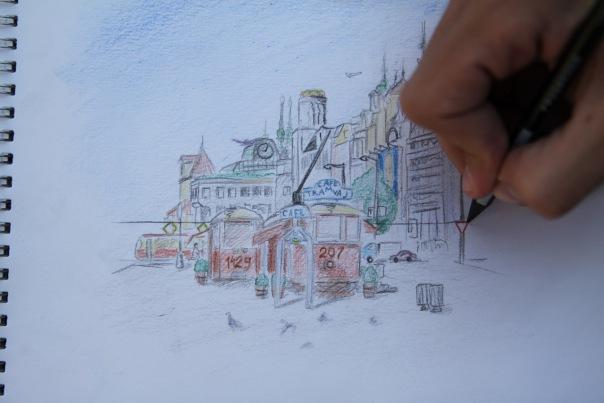 Гоша рисовал карандашами -