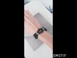 Чарующий браслет из черного агата и грененого нефрита.