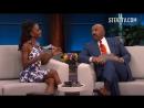 Shanola Hampton at the Steve Harvey Show | Shanola Hampton Asks Steve Harvey How To Potty Train Her Son