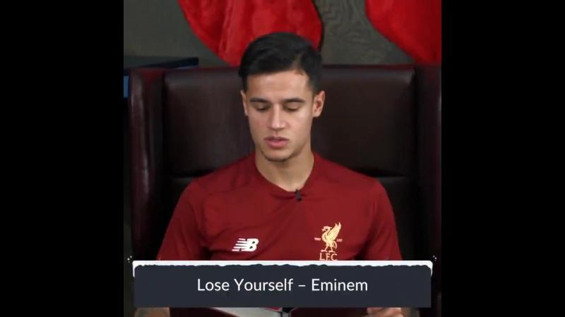 Игрок «Ливерпуля» исполнил знаменитый трек Эминема — Lose Yourself