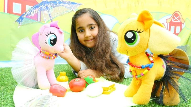 My Little Pony Pinkie Pie ve Applejack kampa gidiyorlar