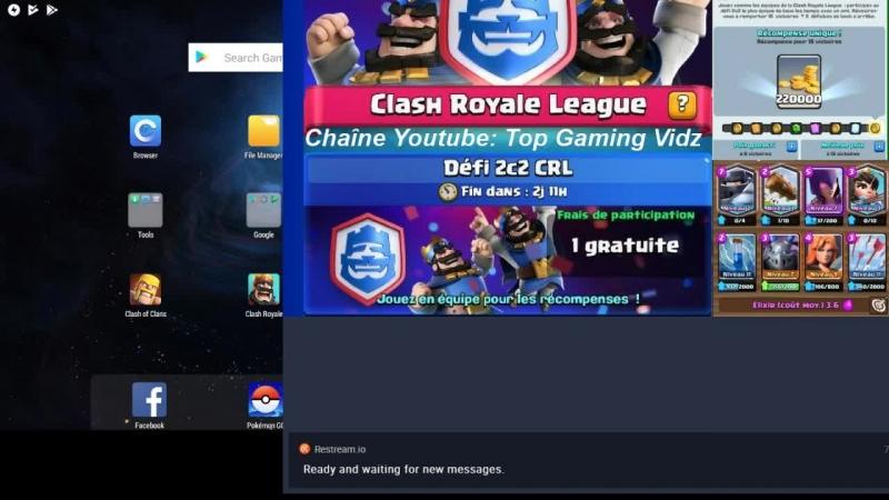 Prochain LIVE Clash royale Tournoi Classique ou BRACKET ou Clash of Clans