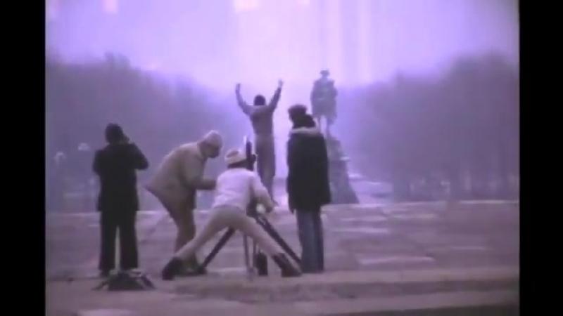John G Avildsen filming Sylvester Stallone in the iconic scene from Rocky