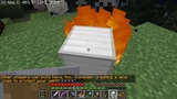 Setting Some Iron Blocks on Fire in Minecraft