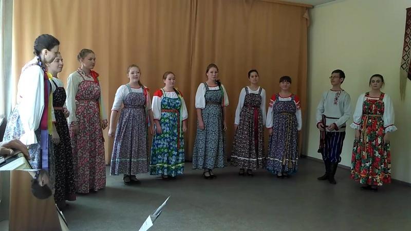 Экзамен 1 этно, 2018 Режиссура фольклорно-этногрфического театра