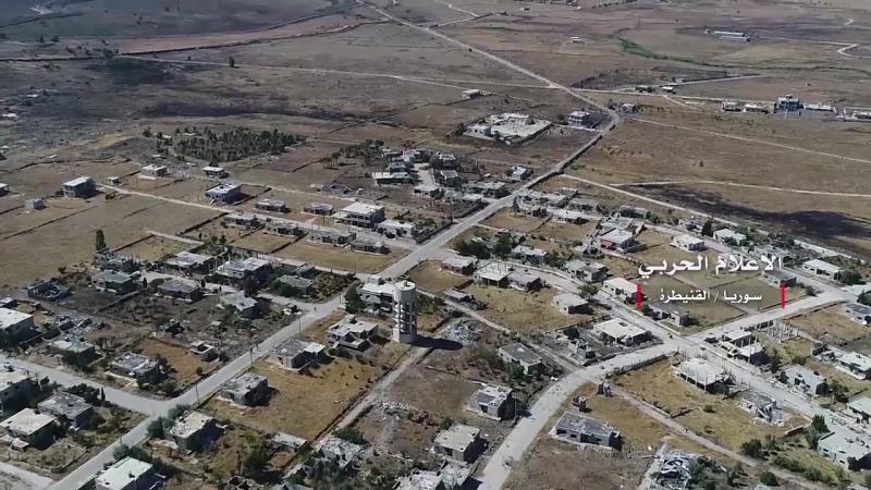 Сирийская армия в городах эль Кунейтра и аль Хамидия в провинции эль Кунейтра напротив позиций сионистского врага