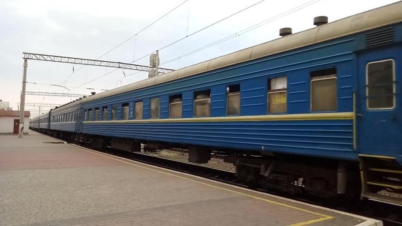Электровоз ВЛ80Т-1434 отправление с пассажирским поездом №271 Харьков-Одесса станция Полтава-Южнаая
