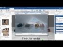 загрузка объекта из 3D Warehouse рендеринг сцены