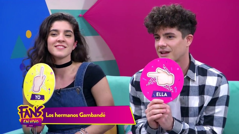 Lucia y Facundo Gambande en Fans En Vivo